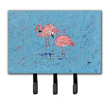 Caroline's Treasures Flamingo Leash Holder and Key Hook