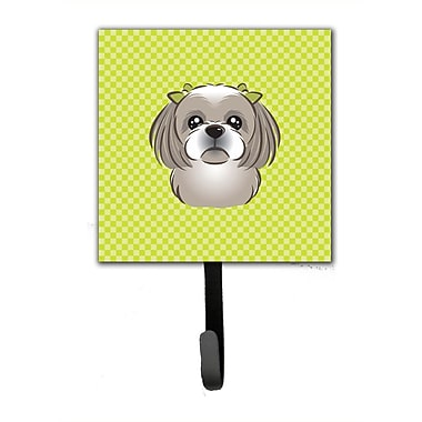Caroline's Treasures Checkerboard Shih Tzu Leash Holder and Wall Hook