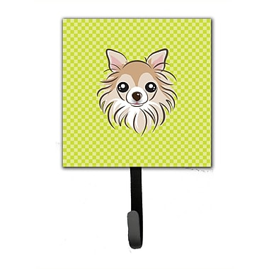 Caroline's Treasures Checkerboard Chihuahua Leash Holder and Wall Hook