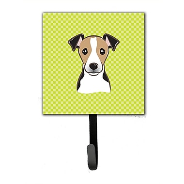 Caroline's Treasures Checkerboard Jack Russell Terrier Leash Holder and Wall Hook