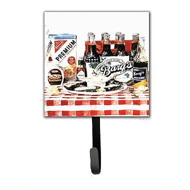 Caroline's Treasures Barq's Oysters Leash Holder and Wall Hook