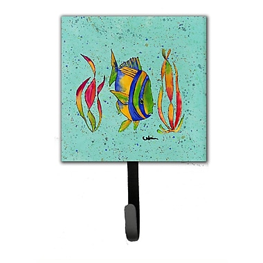 Caroline's Treasures Tropical Fish Leash Holder and Wall Hook