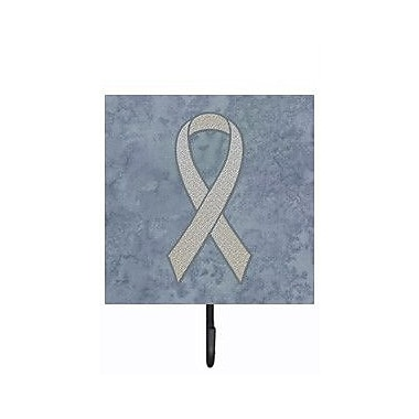 Caroline's Treasures Clear Ribbon For Lung Cancer Awareness Leash Holder and Wall Hook