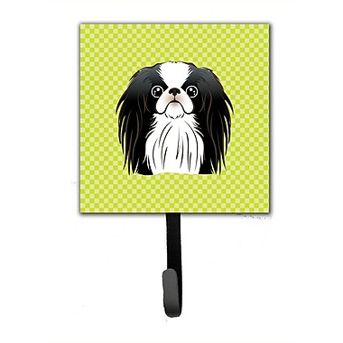 Caroline's Treasures Checkerboard Japanese Chin Leash Holder and Wall Hook