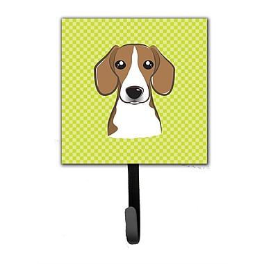 Caroline's Treasures Checkerboard Beagle Leash Holder and Wall Hook
