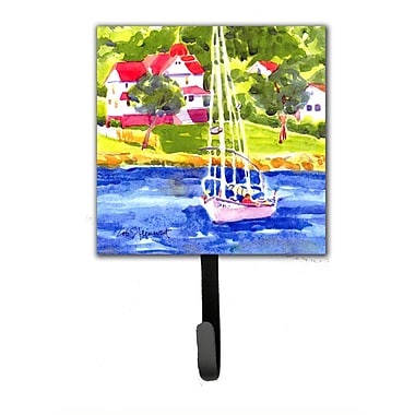 Caroline's Treasures Sailboat on The Lake Leash Holder and Wall Hook