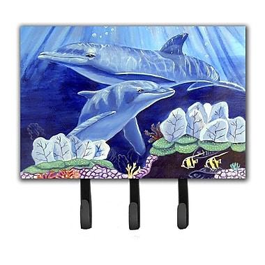 Caroline's Treasures Dolphin Under The Sea Leash Holder and Key Hook
