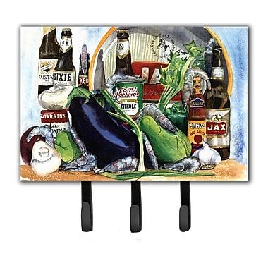 Caroline's Treasures Eggplant and New Orleans Beers Key Holder