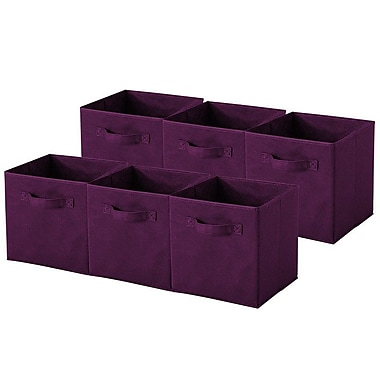 Sivan Collapsible Storage Cube (Set of 6); Purple