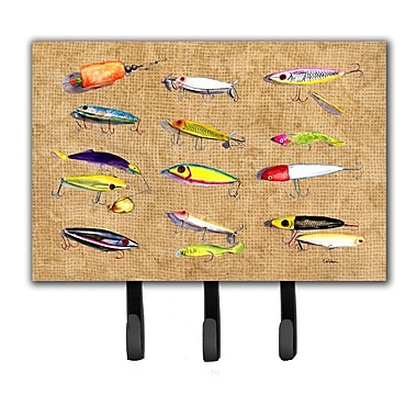 Caroline's Treasures Fishing Lures Leash Holder and Key Hook