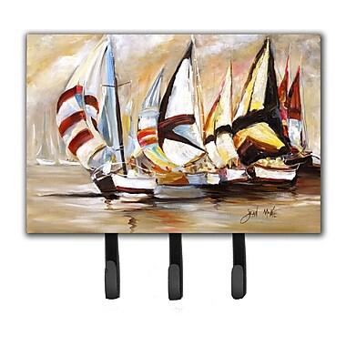 Caroline's Treasures Boat Binge Sailboats Leash Holder and Key Hook