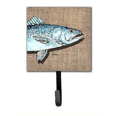 Caroline's Treasures Speckled Trout Leash Holder and Wall Hook