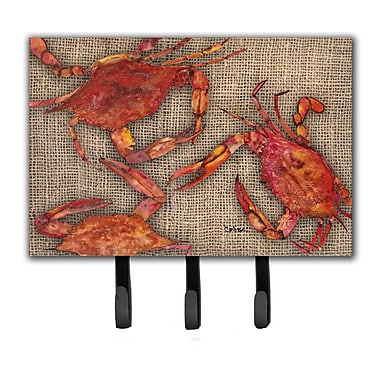 Caroline's Treasures Cooked Crabs Leash Holder and Key Holder