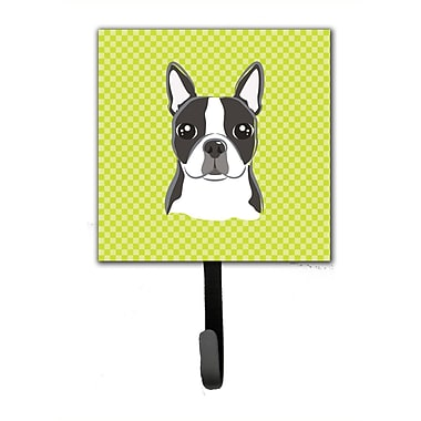 Caroline's Treasures Checke Boston Terrier Wall Hook