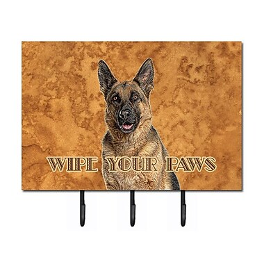 Caroline's Treasures German Shepherd Wipe Your Paws Leash Holder and Key Hook