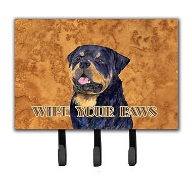 Caroline's Treasures Rottweiler Wipe Your Paws Leash Holder and Key Holder