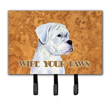 Caroline's Treasures Boxer Wipe Your Paws Leash Holder and Key Holder