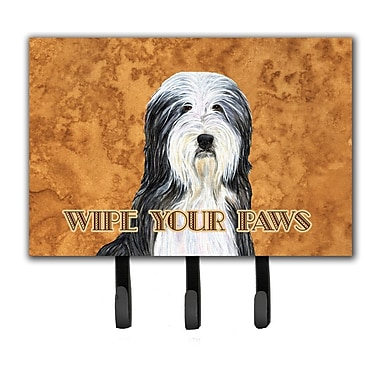 Caroline's Treasures Bearded Collie Wipe Your Paws Leash Holder and Key Holder