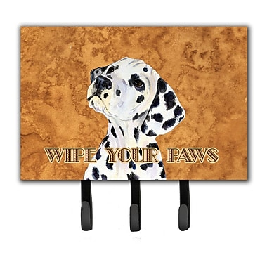 Caroline's Treasures Dalmatian Wipe Your Paws Leash Holder and Key Holder