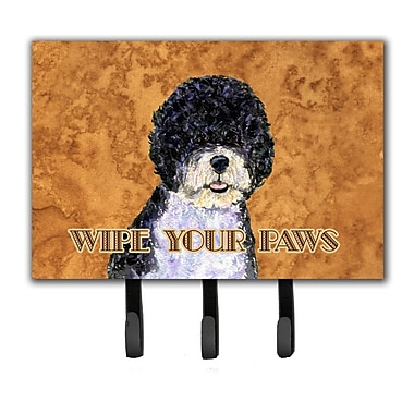 Caroline's Treasures Portuguese Water Dog Wipe Your Paws Leash Holder and Key Holder