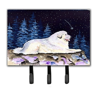 Caroline's Treasures Starry Night Great Pyrenees Leash Holder and Key Holder