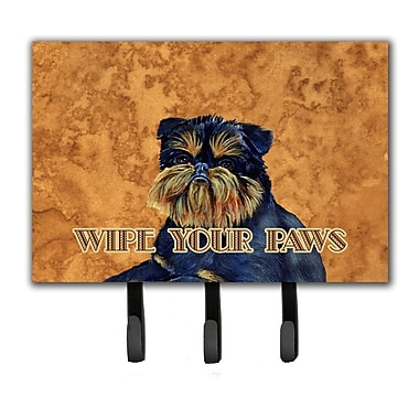 Caroline's Treasures Brussels Griffon Wipe Your Paws Leash Holder and Key Hook