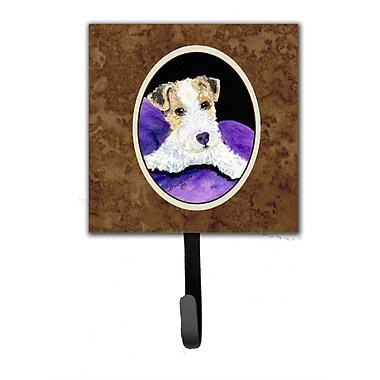 Caroline's Treasures Fox Terrier Leash Holder and Key Hook
