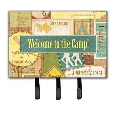 Caroline's Treasures Welcome To The Camp Leash Holder and Key Hook