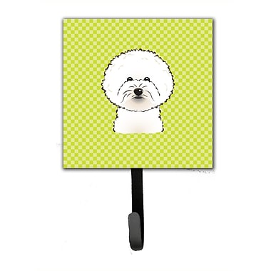 Caroline's Treasures Checkerboard Bichon Frise Leash Holder and Wall Hook