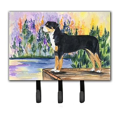 Caroline's Treasures Greater Swiss Mountain Dog Leash Holder and Key Hook