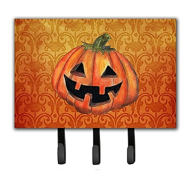 Caroline's Treasures October Pumpkin Halloween Leash Holder and Key Holder