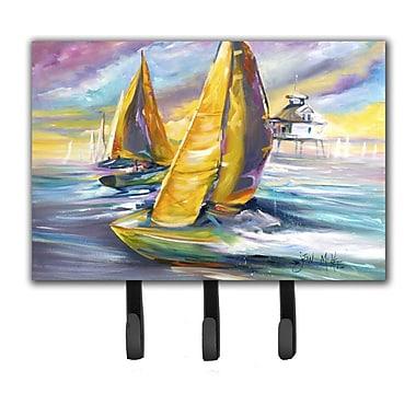 Caroline's Treasures Sailboat w/ Middle Bay Lighthouse Key Holder