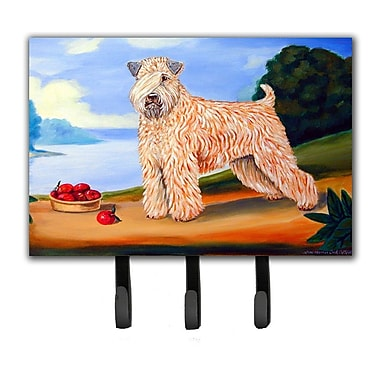 Caroline's Treasures Wheaten Terrier Soft Coated Leash Holder and Key Hook