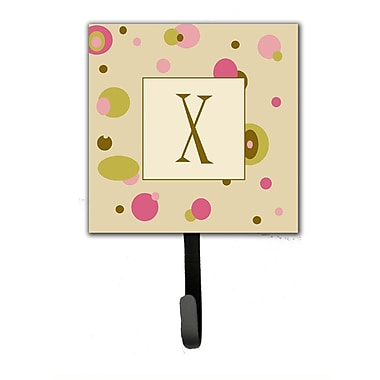 Caroline's Treasures Monogram Dots Leash Holder and Wall Hook; X