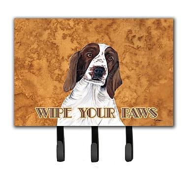 Caroline's Treasures Springer Spaniel Wipe Your Paws Leash Holder and Key Hook