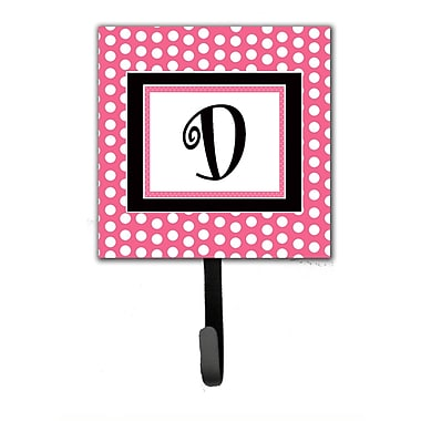 Caroline's Treasures Monogram Polka Dot Wall Hook; D