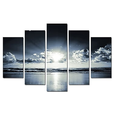 3 Panel Photo Chrome Sun 5 Piece Photography Print on Canvas Set