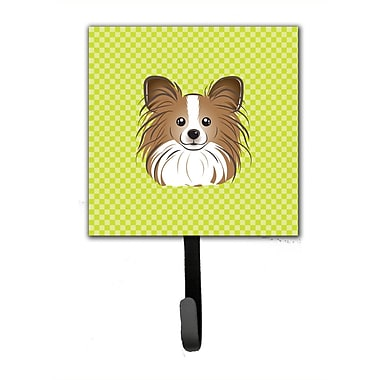 Caroline's Treasures Checkerboard Papillon Leash Holder and Wall Hook