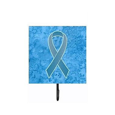 Caroline's Treasures Ribbon For Prostate Cancer Awareness Leash Holder and Wall Hook