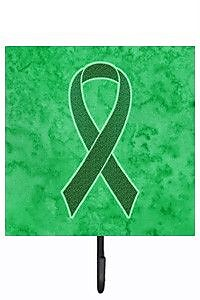 Caroline's Treasures Kelly Ribbon For Kidney Cancer Awareness Leash Holder and Wall Hook