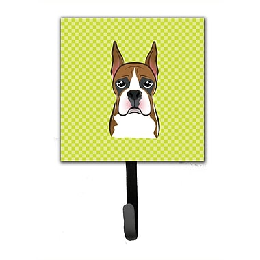 Caroline's Treasures Checkerboard Boxer Leash Holder and Wall Hook