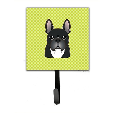 Caroline's Treasures Checkerboard French Bulldog Leash Holder and Wall Hook
