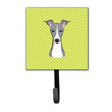 Caroline's Treasures Checkerboard Italian Greyhound Leash Holder and Wall Hook