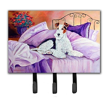Caroline's Treasures Fox Terrier Waiting on Mom Leash Holder and Key Hook