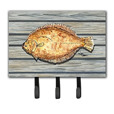 Caroline's Treasures Fish Flounder Leash Holder and Key Hook
