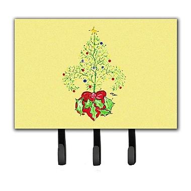 Caroline's Treasures Christmas Tree Fleur De Lis Leash Holder and Key Hook