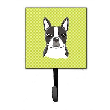 Caroline's Treasures Checkerboard Boston Terrier Leash Holder and Wall Hook