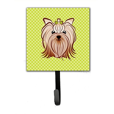 Caroline's Treasures Checkerboard Yorkie Yorkishire Terrier Leash Holder and Wall Hook