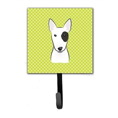 Caroline's Treasures Checkerboard Bull Terrier Leash Holder and Wall Hook