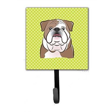 Caroline's Treasures Checkerboard English Bulldog Leash Holder and Wall Hook